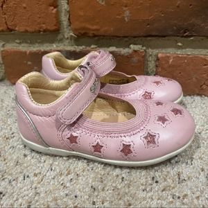 Geox Pink Star Mary Jane Shoes Sz 23